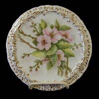 Antique Hand Painted Porcelain Trivet