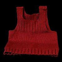 Vintage Hand Knit Red Sweater Vest