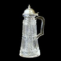 Antique EAPG Clear Syrup Pitcher, 1890