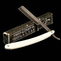 Antique Straight Edge Razor with Box, Henry-Althoff Co Geneva N.Y. 1900
