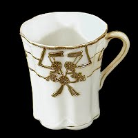 Antique Nippon Gold Trim Porcelain Chocolate Cup
