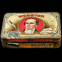 Antique Vintage Webster Tobacco Tin Can