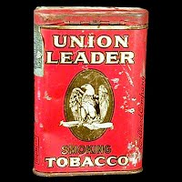 Antique Vintage Union Leader Tobacco Tin