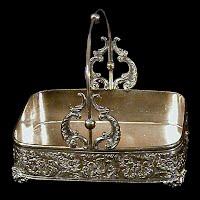 Antique Silver Basket, Meriden Silver Co 1890