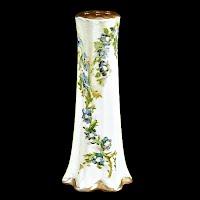 Antique Vintage hand painted flowers porcelain hatpin holder