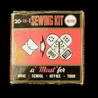 Vintage Sewing Kit, made in Hong Kong 1940's
