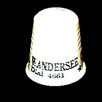 Vintage Plastic Thimble, Wandersee, 1940-1950