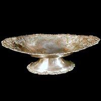 Antique Silver Grape Dish, 1860