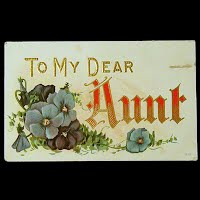 1902 Embossed Antique Postcard, To My Dear Aunt