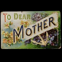 Embossed German Antique Postcard, To Dear Mother