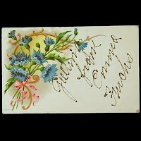 Antique Postcard, Greeting from Emma