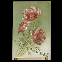 Embossed German Antique Postcard, Irene Best