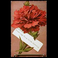1909 Antique Postcard, Greetings from Nora Hanson