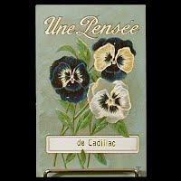 Antique Postcard, Une Pensee de Cadillac