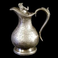 Antique Silver Syrup Pitcher, 1860