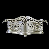 Antique Silver Holder, Rockford Silverplate Co 1890