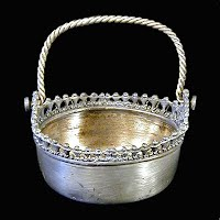 Antique Silver Basket, Pelton Bros & Co 1874