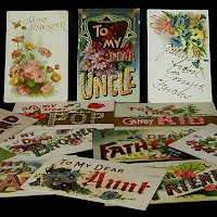 Antique, Vintage Friendship and Name Postcards