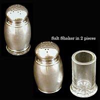 Antique Silver Salt & Pepper Shaker, 1889
