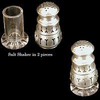 Antique Silver Salt & Pepper Shaker, 1900s