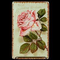 Antique Embossed Birthday Postcard, postmark 1912