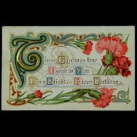 Antique Birthday Postcard