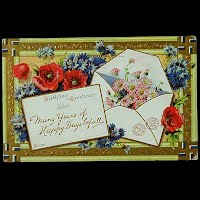 Antique Birthday Postcard, 1910