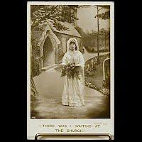Antique Bamforth Postcard, Waiting At the Church