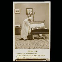 Antique Bamforth Postcard, Coax Me