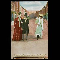 Antique Bamforth POstcard, Auld Acquaintance