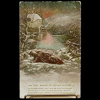 Antique Bamforth Postcard, Bank of Allan Water