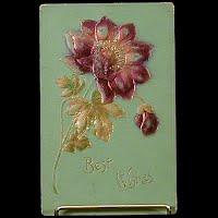 1909 Antique Postcard Best Wishes