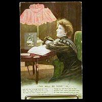 Antique 1909 Bamforth Postcard, Thy Will