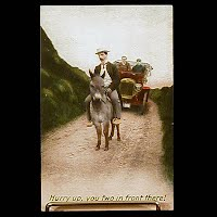 Antique 1909 Bamforth Postcard, Hurry Up