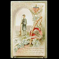 1909 Embossed Antique Postcard Memorial Day