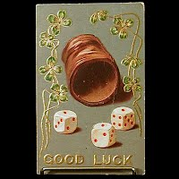 1908 Antique Postcard, Good Luck
