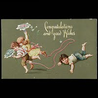 Antique Postcard, Congratulations