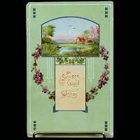 Antique Gel Postcard, Best Wishes