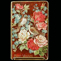 1912 Antique Postcard, Best Wishes
