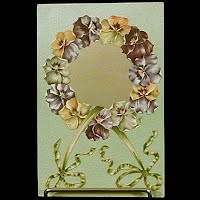 1908 Antique Embossed Postcard, Pansy