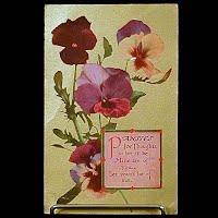 1913 Antique Embossed Postcard, Flower