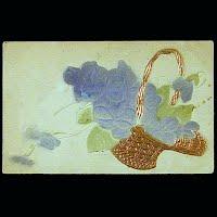 1911 Antique Postcard, Flower