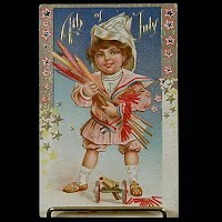 1911 Antique 4th of July Postcard