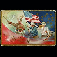 1910 Antique 4th of July Postcard, Wishing You a Gloriuos 4th of July
