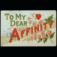 1910 Antique Postcard, To My Dear Affinity