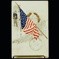 1910 Embossed Antique Postcard, Memorial Day