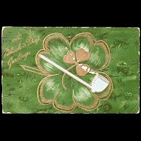 1909 Embossed Antique Postcard, St. Patrick's Day