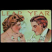 Antique 1908 Leap Year Postcard