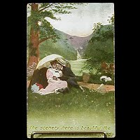 1909 Antique Bamforth Postcard, The scenery here is beautiful