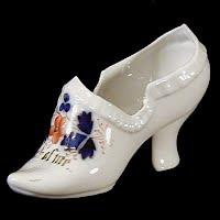 Antique Porcelain Shoe, 1900